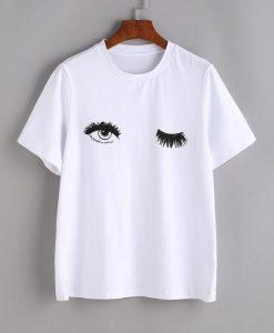 Wink Eyes Print Tee KH01