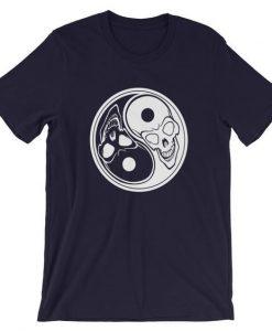 Ying Yang Skull T-Shirt ZK01