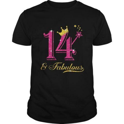 14th Birthday Girl Fabulous T-Shirt EL01