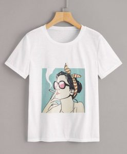Women Figure Print T-Shirt VL01