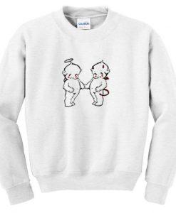 Angel and devil baby sweatshirt FD21N