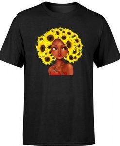 Woman With Sunflower Hair Tshirt FD30N