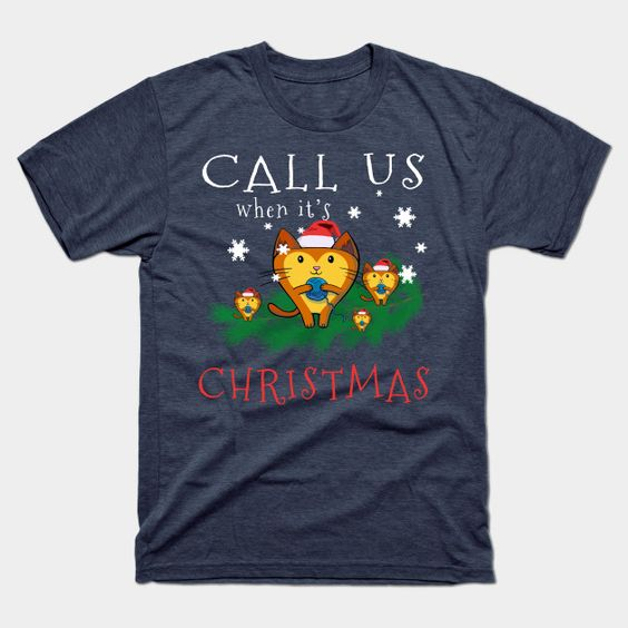 Christmas Cute Cats T Shirt AY26D