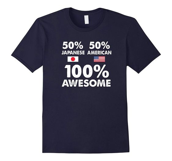 50% Japanese 50% American T-Shirt ND1F0
