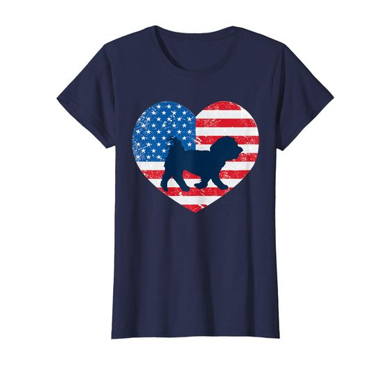 American Flag Heart T-Shirt ND1F0