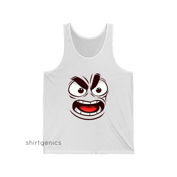 Angry Face Emote Tank Top ED26JN1