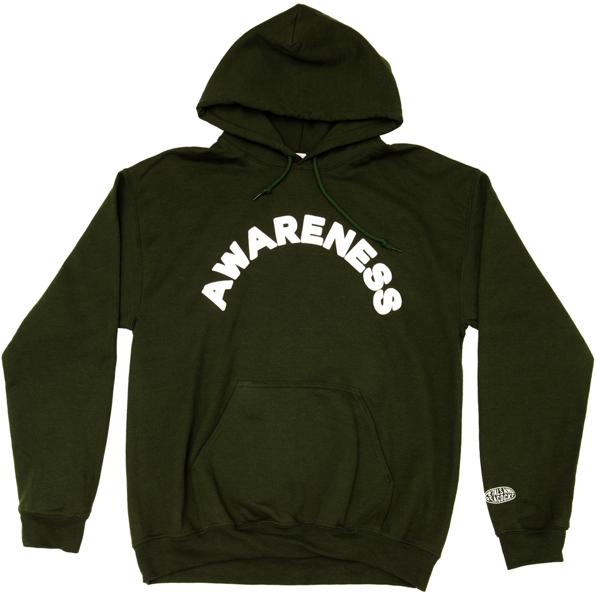 Awareness in Forest Green Hoodie AL8F1