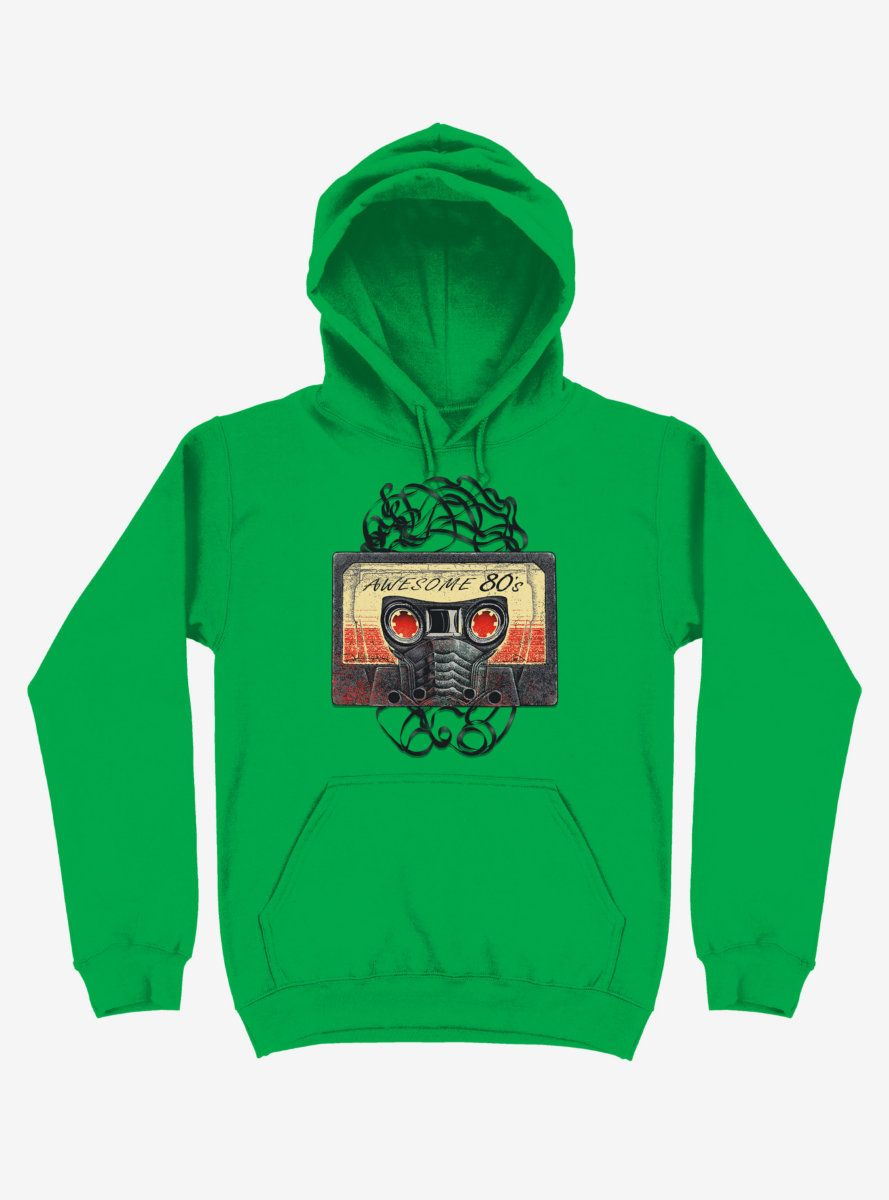 Awesome 80's Mixtape Kelly Green Hoodie AL8F1