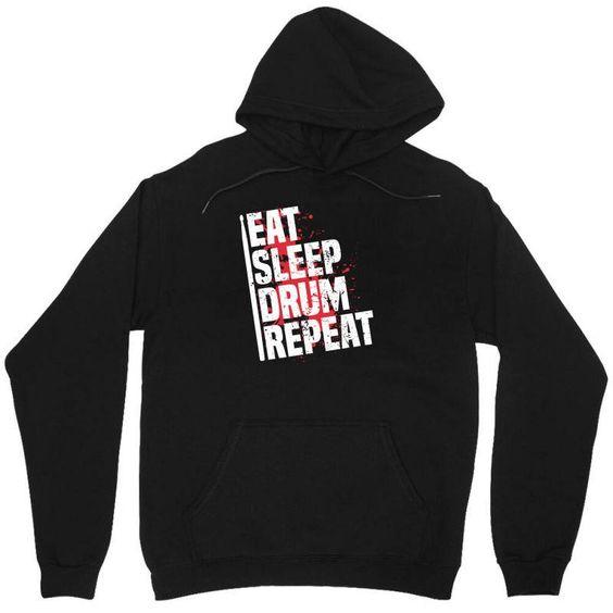 Eat Sleep Drum Repeat Hoodie SD10M1